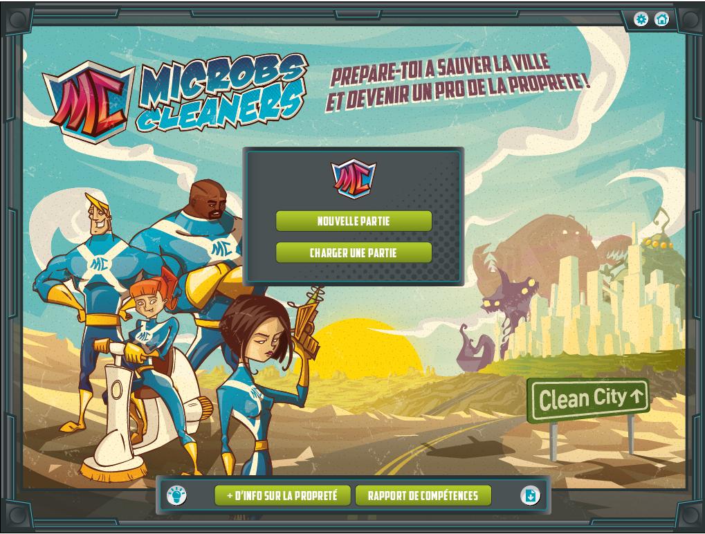 microbs cleaners serious game - la manane agence de communication pédagogique crossmedia