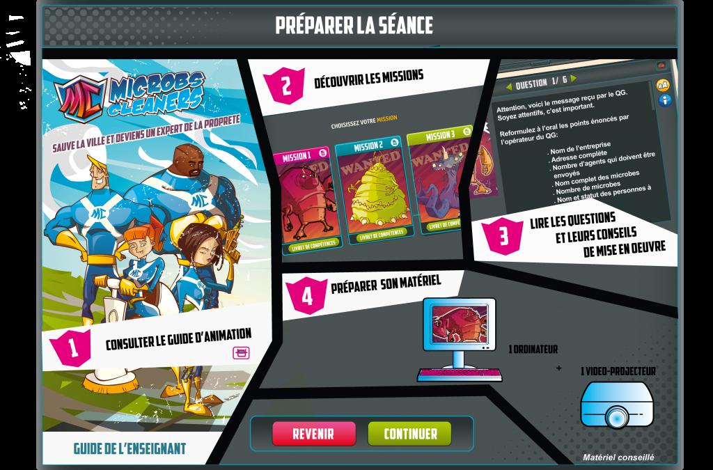 microbcleaner serious game - la manane agence de communication pédagogique crossmedia