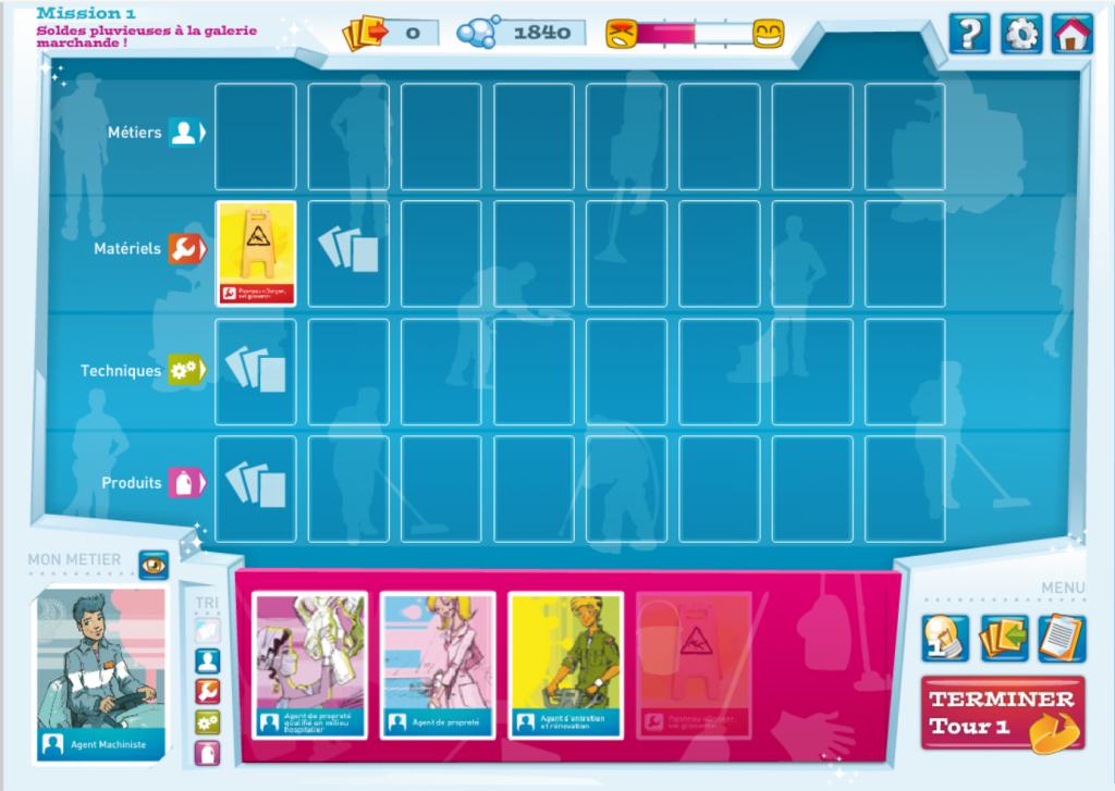 Orientation proprete - serious game - plateau de jeu- la manane, agence de com pédagogique crossmedia