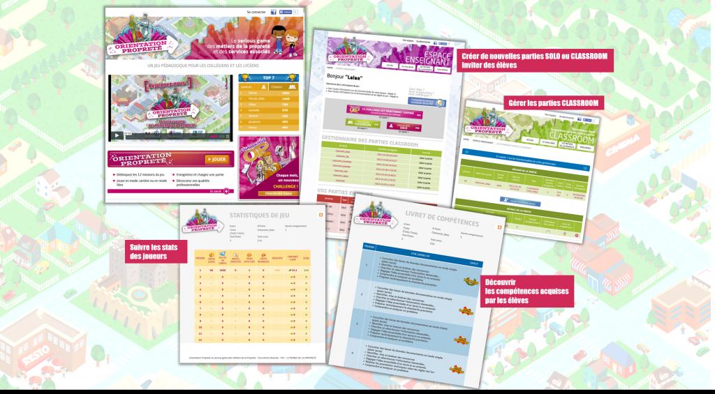 Site Orientation proprete - La manane, agence de communication pédagogique crossmedia