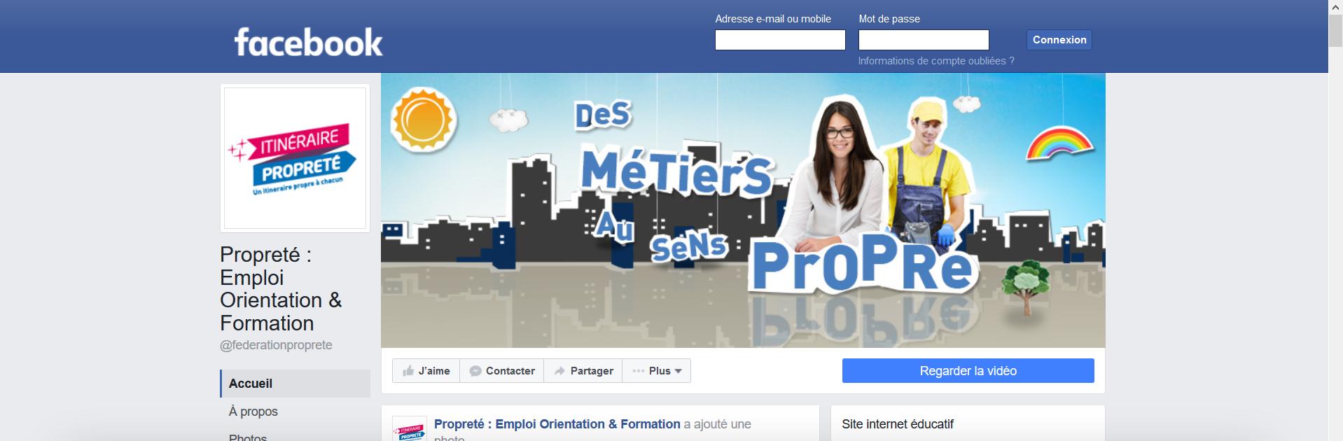 facebook Monde de la propreté - La Manane, l'agence de com pédagogique crossmedia