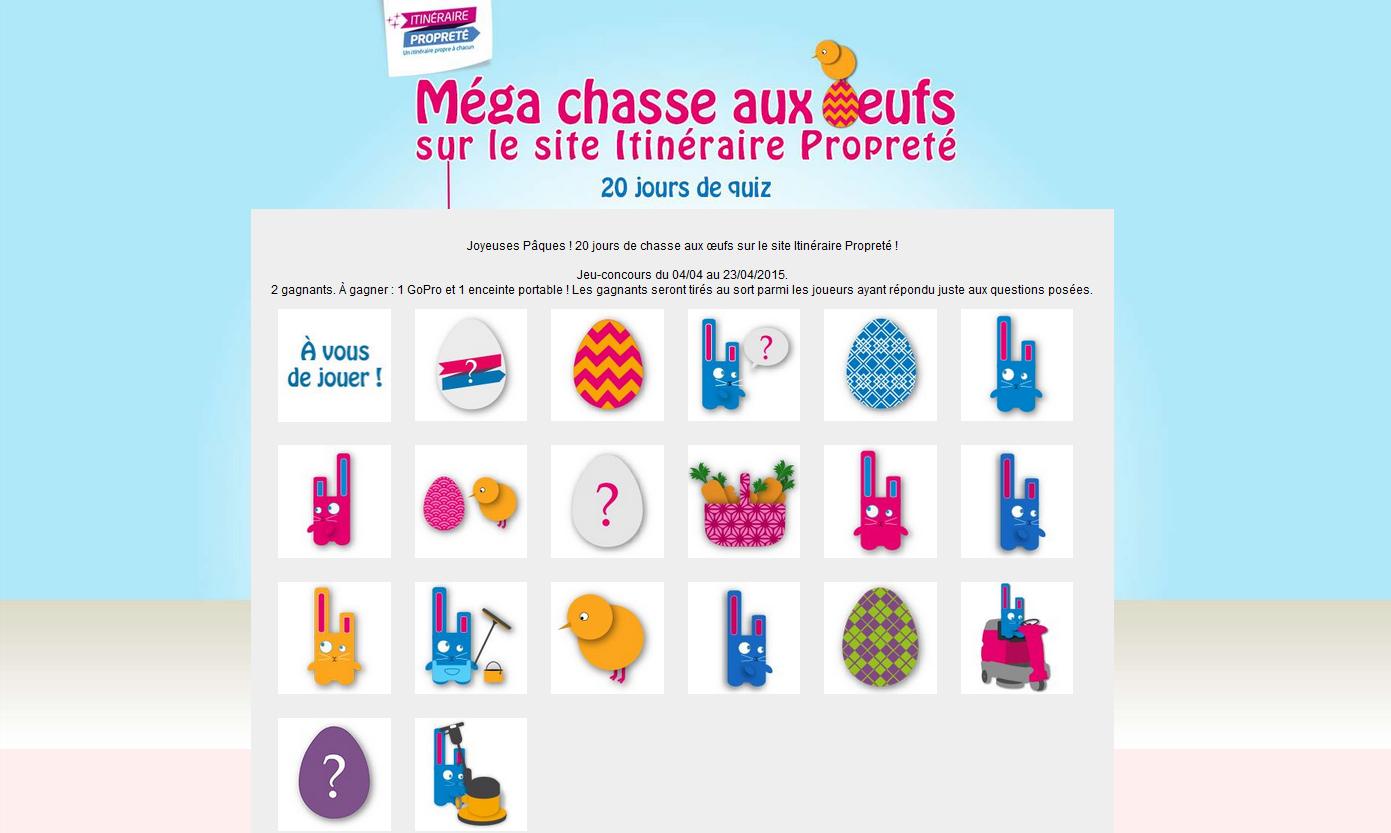 chasse-aux-oeufs- - facebook Monde de la propreté - La Manane, l'agence de com pédagogique crossmedia