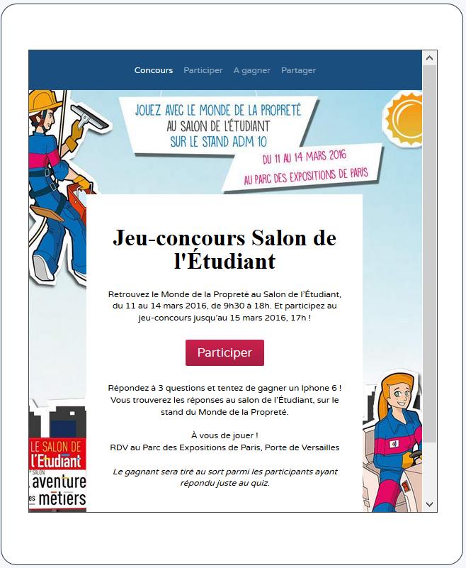 concours salon-etudiant - facebook Monde de la propreté - La Manane, l'agence de com pédagogique crossmedia