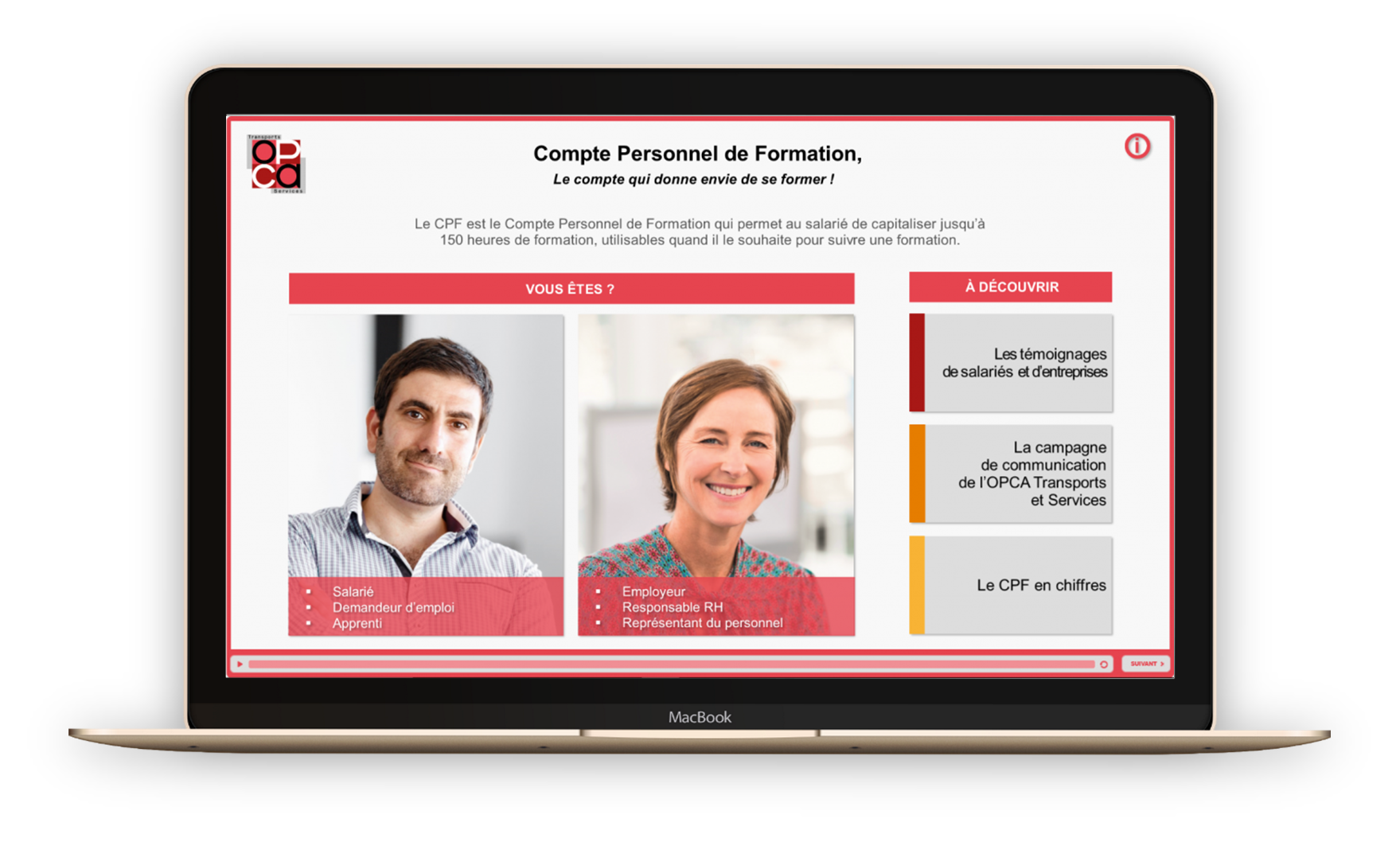 Landing-page_Campagne_CPF- La Manane, agence de communication pédagogique crossmedia