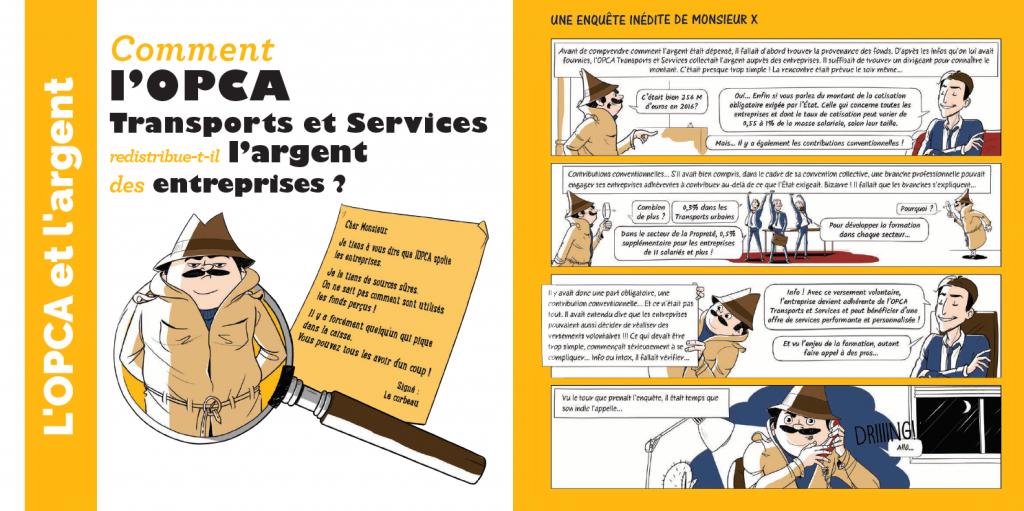 la revue de l'opca TS - l'argent des entreprises - la manane, agence de communication pédagogique crossmedia