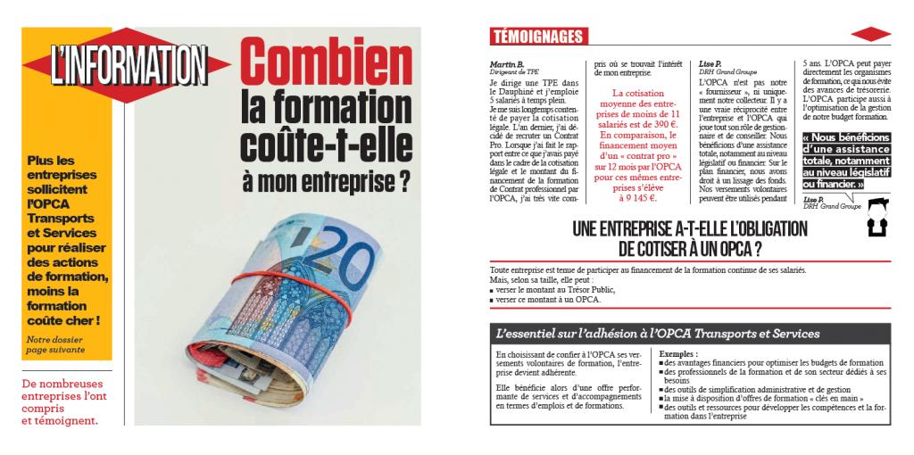 la revue de l'OPCA TS - le prix de la formation - la manane, agence de communication pédagogique crossmedia