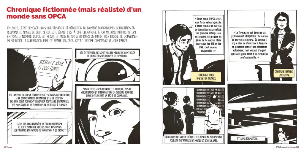 la revue de l'OPCA TS - un monde sans OPCA - la manane, agence de communication pédagogique crossmedia