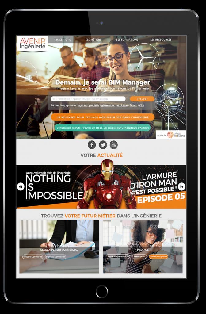 site web - syntec - ATTRACTIVITE DES METIERS - la manane, agence de communication pédagogique c