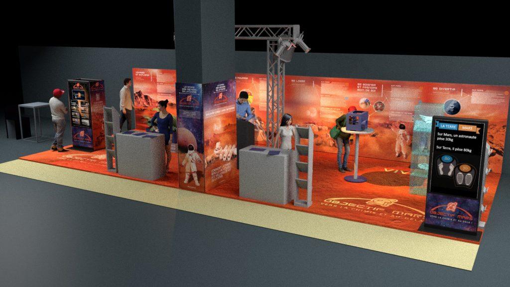 Modèle 3D objectif mars - La Manane, agence de communication pédagogique crossmedia