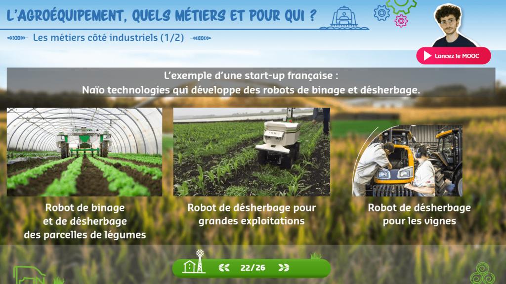 Agroéquipement - Naio technologies- la manane agence de communication pédagogique crossmedia