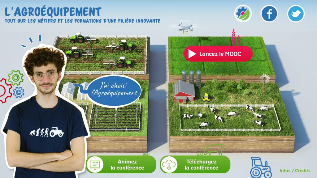 Agroéquipement - home page - la manane agence de communication pédagogique crossmedia