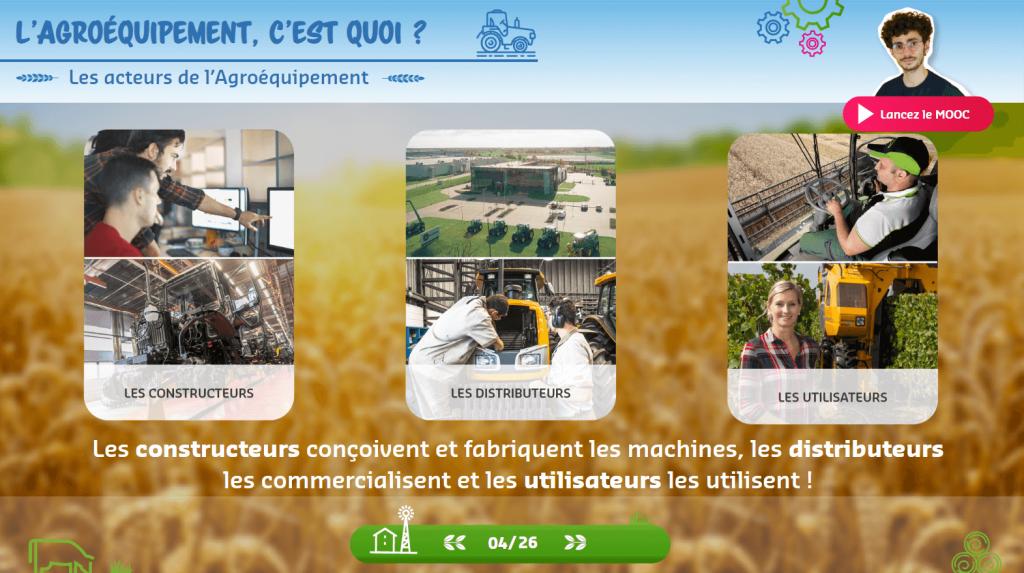 Agroéquipement - les acteurs- la manane agence de communication pédagogique crossmedia