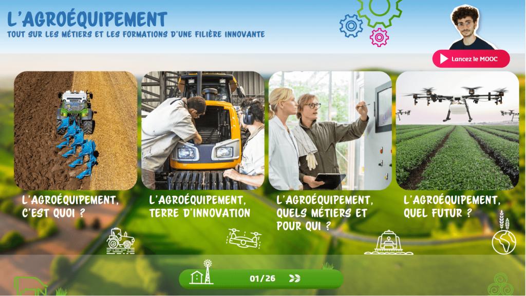 Agroéquipement - menu - la manane agence de communication pédagogique crossmedia