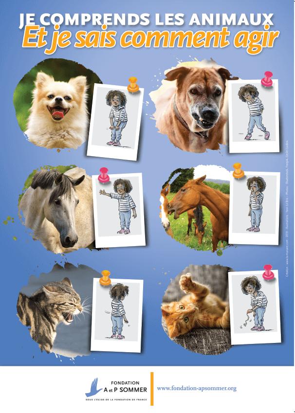 affiche - je sais agir avec les animaux - La Manane, agence de communication pédagogique