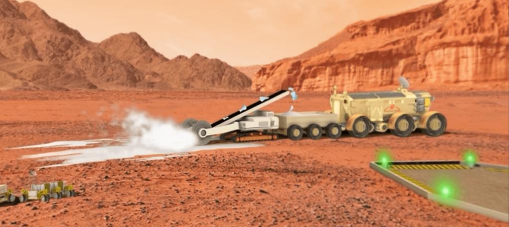 OBJECTIF MARS EXTRACTION DE LA GLACE - LA MANANE COM PEDAGO CROSSMEDIA