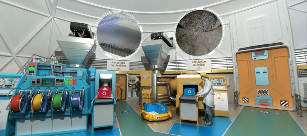 OBJECTIF MARS - RECYCLAGE PLASTIQUE ET METAL - LA MANANE COM PEDAGO CROSSMEDIA