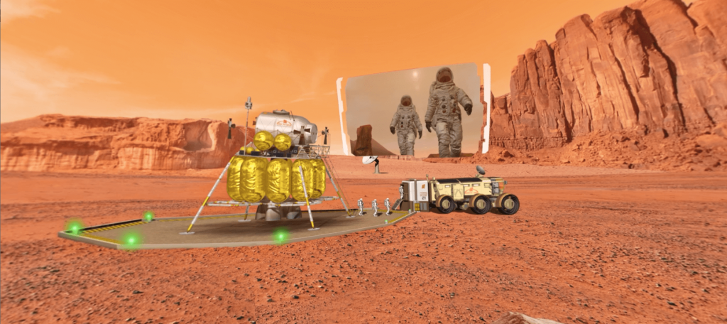 OBJECTIF MARS LANDING- LA MANANE COM PEDAGO CROSSMEDIA